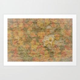 Bleached Flower Love Letter Art Print