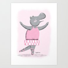 Hippo Ballet Art Print