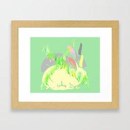 NO BUNNY RABBIT FARM  Framed Art Print