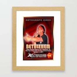 Richie Knucklez appearance card - King of Arcades World Premiere, Bethlehem PA Framed Art Print