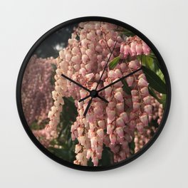 Pink Lily of the Valley Wall Clock