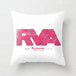 Rva Logo | ' Graffiti Style ' Throw Pillow