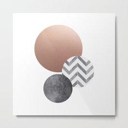 Moons, Scandinavian Modern Abstract Metal Print