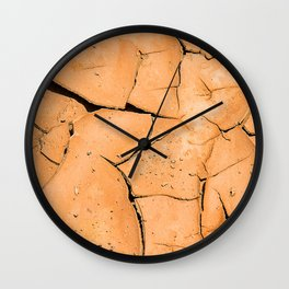 Cracked Terrain in Morocco Wall Clock