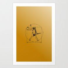 leonardo guitar Art Print