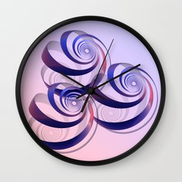 connected spirals Wall Clock