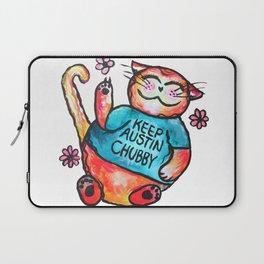 Keep Austin Chubby Chubbycat Laptop Sleeve
