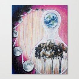 Sister Circle // Women Feminism Feminist Sisterhood Goddess Earth Moon Unity Peace Love Power Energy Canvas Print