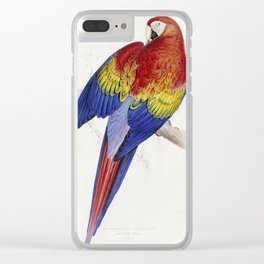 Edward Lear - Red And Yellow Macaw Clear iPhone Case