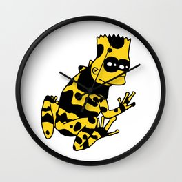 Poison Bart Frog Wall Clock