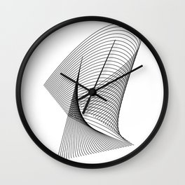 """Linear Collection"" - Minimal Letter R Print Wall Clock"