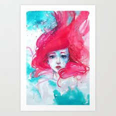 Ariel, The Little Mermaid Art Print