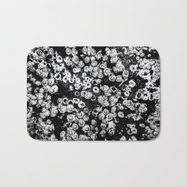 Black and White Barnacles Bath Mat