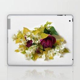 Golden Mock Orange and Pink Peonies Laptop & iPad Skin