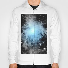 Orion nebULa Black White Blue Space Hoody