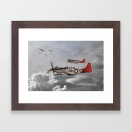 P51 Mustang - Tuskegee Airmen Framed Art Print