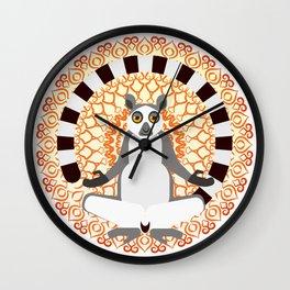 Lemur yoga Wall Clock