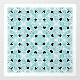 Neon Tile Pattern Art Print