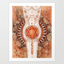 Sacral Chakra Inspirational Design Art Print