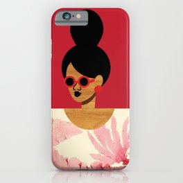 High Bun Postcard Girl iPhone Case