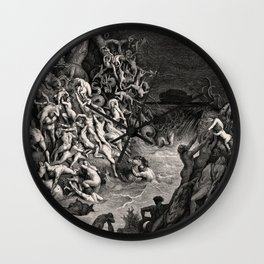 World Destroyed by Water Gustave Dore, 1866 Wall Clock