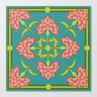 flora Canvas Prints featuring Flora by nandita singh
