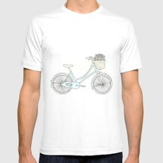 Summer Bicycle Mens Fitted Tee White MEDIUM