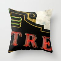 theatre Throw Pillows featuring Old Theatre by Massimiliano Bertozzi