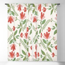 Floral Garden Pattern Blackout Curtain