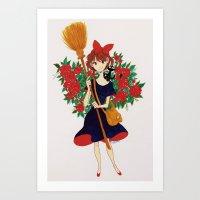 kiki Art Prints featuring Kiki by Javiera Esquer