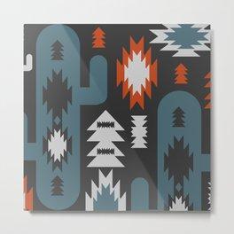 Tribal cacti Metal Print