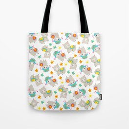 Pattern Of Alpacas, Cute Llamas With Hats, Flowers Tote Bag