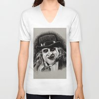 pen V-neck T-shirts featuring Pen by chadizms