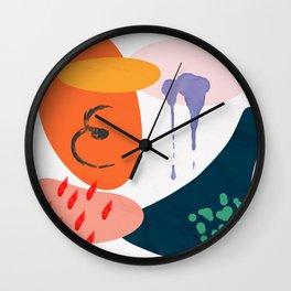 abstract dripping Wall Clock