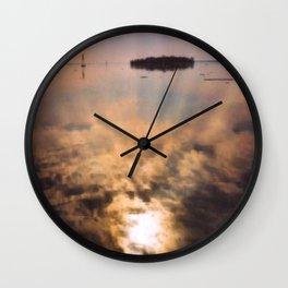 spring reflection Wall Clock