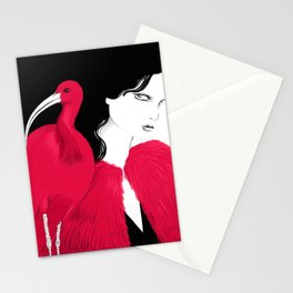Scarlet Ibis Stationery Cards
