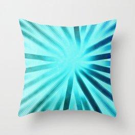 Intersecting-Aqua Throw Pillow