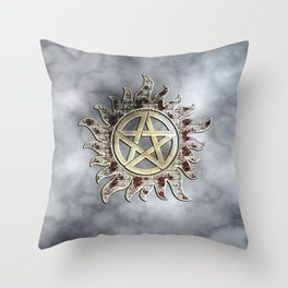 Smokey supernatural Throw Pillow