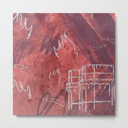 A la luna de Valencia  - Red Metal Print