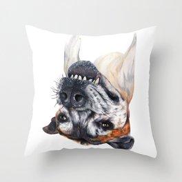 Chuck crazy dog Throw Pillow