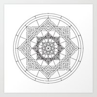 celtic Art Prints featuring celtic by blacksparrow