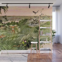 """Classical Masterpiece """"Egyptian Fowlers Clap-net"""" by Herbert Herget. Wall Mural"""