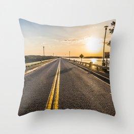 Sunset Road 2 Throw Pillow