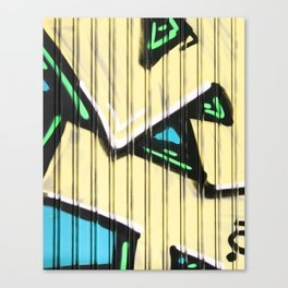 Urban Street Art Collection in Yellow Canvas Print