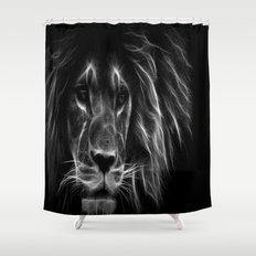 Lion. Black U0026 White Shower Curtain