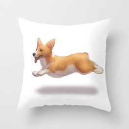 my corgi Throw Pillow