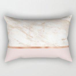 Caramel marble on rose gold blush Rectangular Pillow