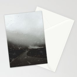 Escaping an Avalanche at Milford Sound Stationery Cards