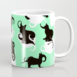 Tea Time Cat Swirls Coffee Mug
