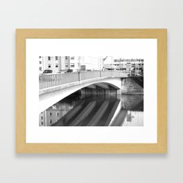 Reflective Bridge in Ulm, Germany Framed Art Print